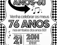Festa Anos 60 70 80 Elo7