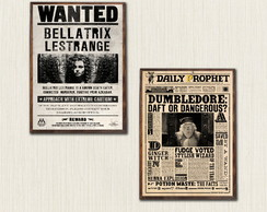 Kit de Quadros Decorativos Harry Potter Moldura A3