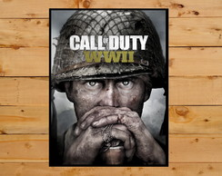 Quadro Decorativo Call Of Duty Wwii Playstation 4 Xbox 30x42
