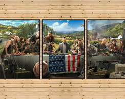 Conjunto 3 Quadros Decorativos Far Cry Playstation X Box 360 no Elo7