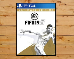 Quadro Decorativo Fifa 19 Playstation 4 Xbox One 30x42cm A3