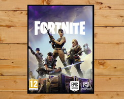 Quadro Decorativo Fortnite Playstation 4 Xbox 30x42cm A3