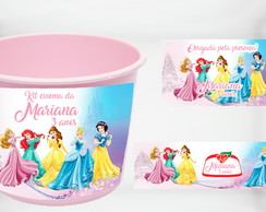 Kit Cinema Personalizado Princesas Disney