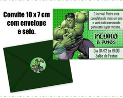 Convite do Hulk com Envelope