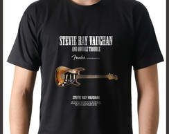 Camiseta Camisa Blues Stevie Ray Vaughan Guitarra Fender