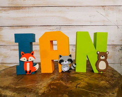 Letras 3D - Animais do Bosque