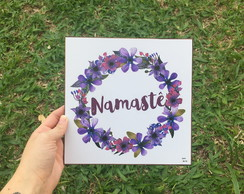 Placa decorativa Namaste
