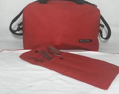 578dca019 Bolsa Feminina Vermelha Casual em Tecido Linho no Elo7 | Presence ...