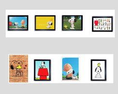 Quadro snoopy anos 80 Charlie Brown Peanuts woodstock