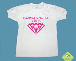 T-Shirt Bebê e Infantil DIAMONDS