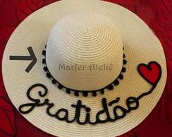 ... Kit com 04 Chapéus de palha praia personalizados Promoção bcc9452a10