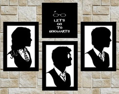 harry potter placas decorativas