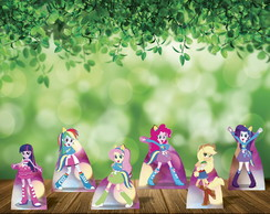 Equestria Girls Kit com 6 Displays de Mesa