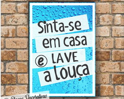 Placa decorativa - Frases