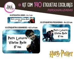 140 Etiquetas Escolares - Harry Potter