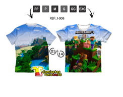 Camisa Minecraft Branca  2830bb4f8e314