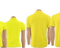 9e96834f69 ... Kit Camisetas Gola Polo Amarelo Masculino e Feminino