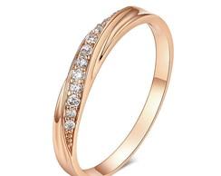 16f71bb885333 ... Anel aparador feminino banhado a ouro rose 18k com zircônia
