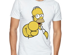 Camiseta Camisa Os Simpsons / Homer Simpson indicando