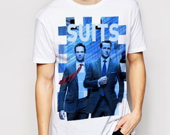 Camiseta/ baby-look ou bata canoa série Suits