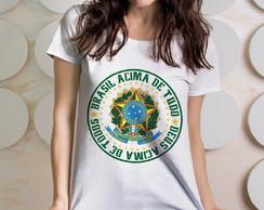 685a9aa0d2 ... Camiseta Feminina Brazão da República