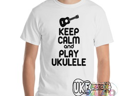 Camiseta Ukulele Keep Calm UkeLook