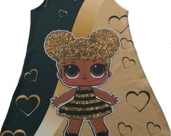 Vestido infantil lol queen bee