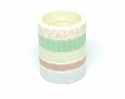Kit Washi Tapes - Geométrica 3 (5 Unidades)