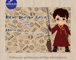 Etiqueta Escolar Harry Potter 8,5 cm x 5,0 cm