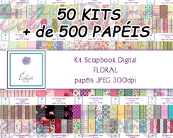 50 Kits Scrapbook Digital Shabby FLORAL