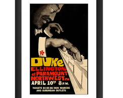 Quadro Duke Ellington Jazz Musica Arte Poster Retro Decorar