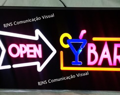 Placa de Painel Luminoso de led Opem Bar