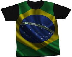 ... Camiseta Bandeira Brasileira País Blusa Camisa Estampada 8292b1a4756b0