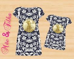 9a508095c4 Kit Camiseta Pai e Filha Vestido Floral