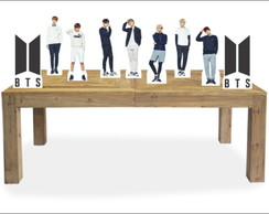 Kit 9 Enfeites Display Festa BTS - KPOP