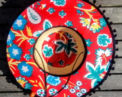... Chapéu de palha surf flowers estampado 193f6cf8e9a