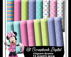Kit Scrapbook Digital Minnie Boutique