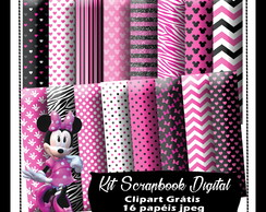 Kit Scrapbook Digital Minnie Rosa
