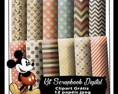 Kit Scrapbook Digital Mickey Retro