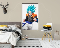 Poster Adesivo Dragon Ball Super Gogeta Blue