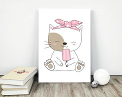 Placa decorativa 15x20cm Cute Cat