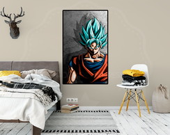 Poster Adesivo Dragon Ball Super Goku Blue