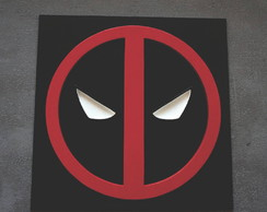 Quadro Decorativo Super Herói Deadpool Recorte Mdf 6mm