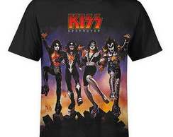 Camiseta masculina Kiss Estampa digital md02