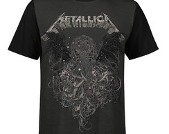 Camiseta masculina Metallica Estampa digital md02