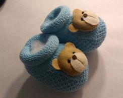 Bonezinho Azul com Sapatinho para Recem Nascido  a4265d12e8c