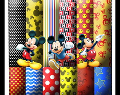 Mini Kit Scrapbook Digital Mickey