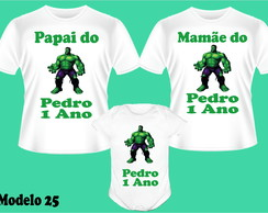 KIT CAMISETA+BODY HULK ANIVERSARIO C/3