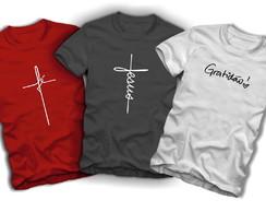 068c132a4 Kit 3 Camisetas Fé