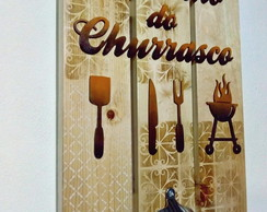 Placa ABRIDOR cantinho do churrasco